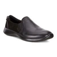 Туфли Ecco-Soft 5 без шнурков.черный.283003-53859