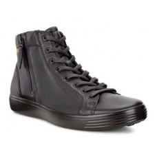 Ботинки Ecco-Soft 7 змейка.черн.430134-59075