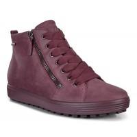 Ботинки Ecco-Soft 7 TRED тк.шн.бордо. 450163-02278