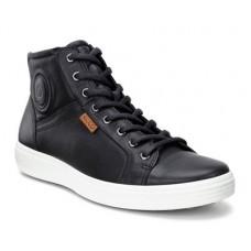 Ботинки Ecco-Soft 7 черн/бел.430024-01001