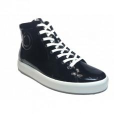Ботинки Ecco-Soft 9 лак.черн.243833-04001